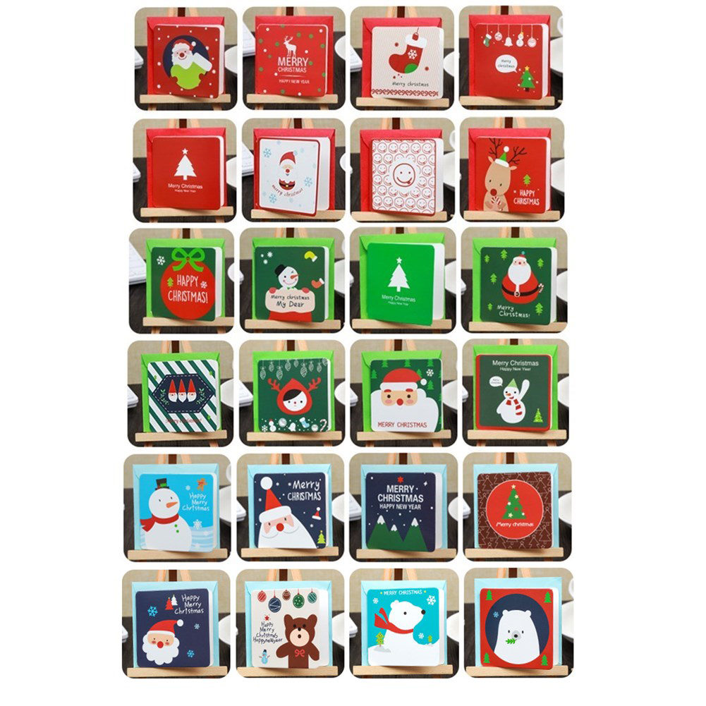 144pcs Greeting Cards with Envelopes for Merry Christmas New Year Xmas Party Suit