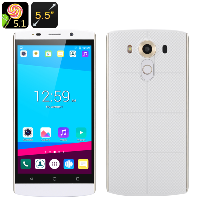 5.5 Inch Android Smartphone (White)