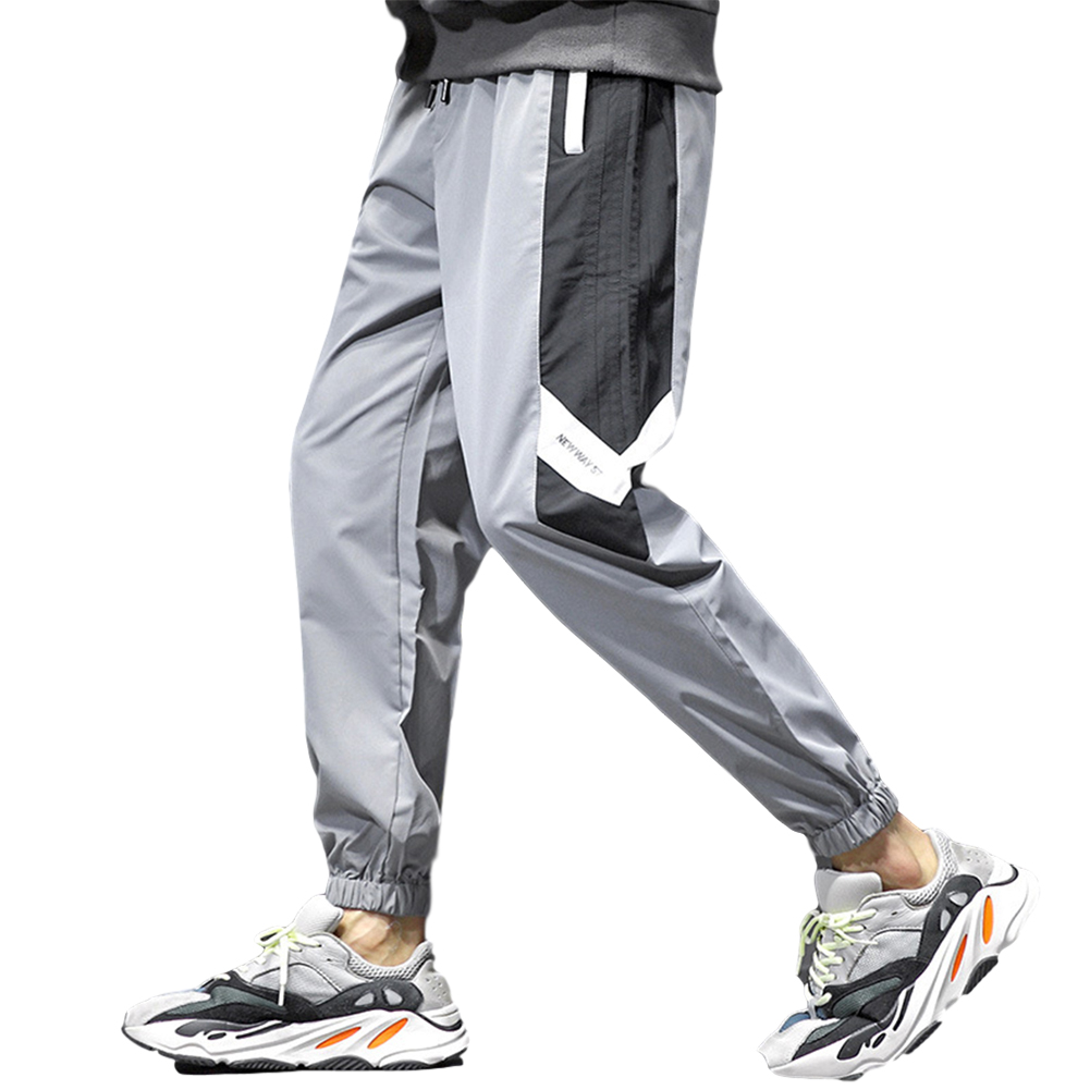 Men's Pants Tooling Harem All-match Leggings Plus Size Sports Pants gray_XL