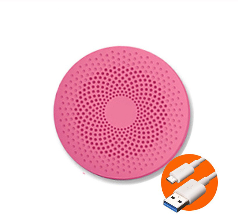 Cute Portable Mini Voice Control Bluetooth Speaker with Phone Function Pink