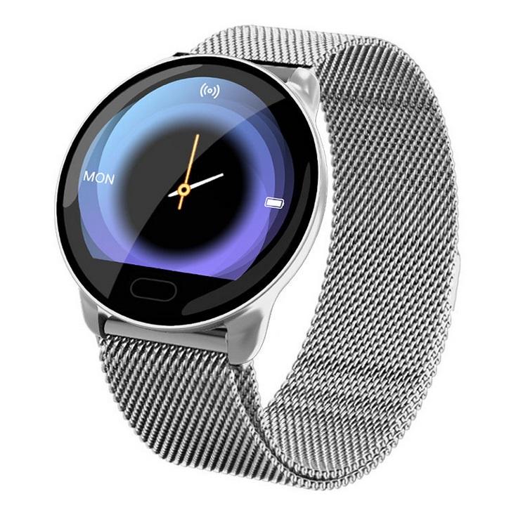 K9 Smart Bracelet Color Screen Health Monitoring Smart Reminder Bracelet Multifunctional Bluetooth Sports Bracelet Silver