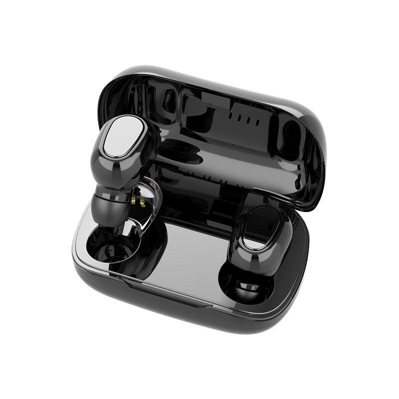 L21 True HIFI Wireless Bluetooth 5.0 Headset Sport Twins Headset 3D Stereo Portable Charging Box black