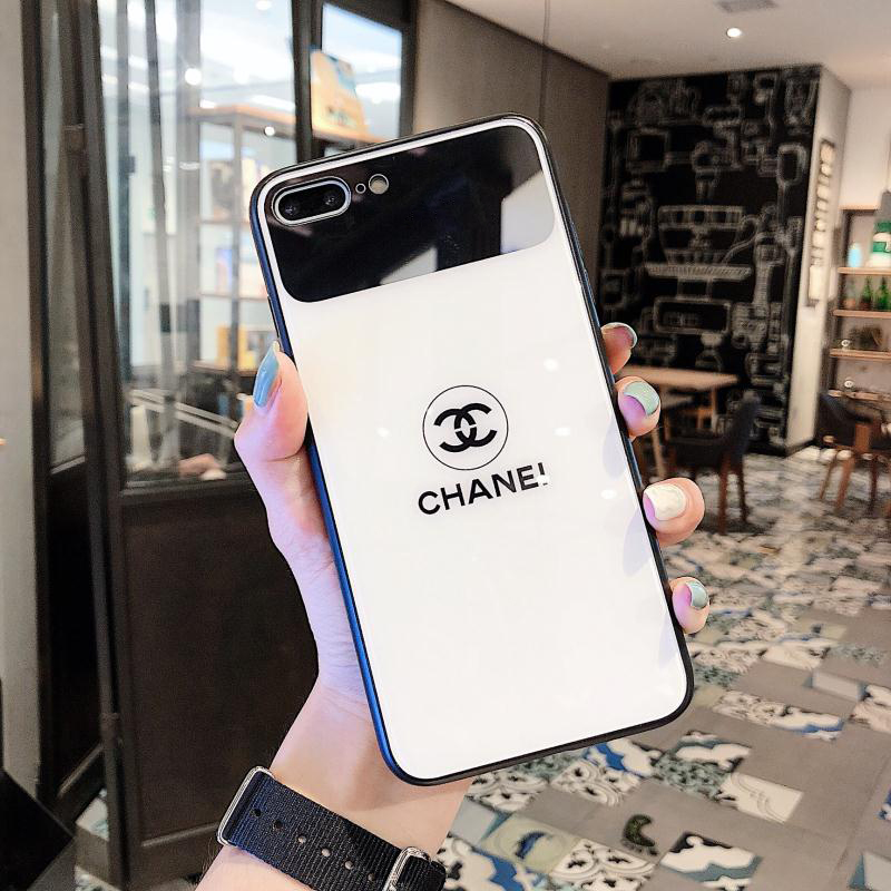 Chanel Icon Phone Case for iPhone6/6S, 6/6S PLUS, 7/8, 7/8plus, X/XS, XR, XS MAX Stylish Chic Mirror Full Protection Anti-falling white