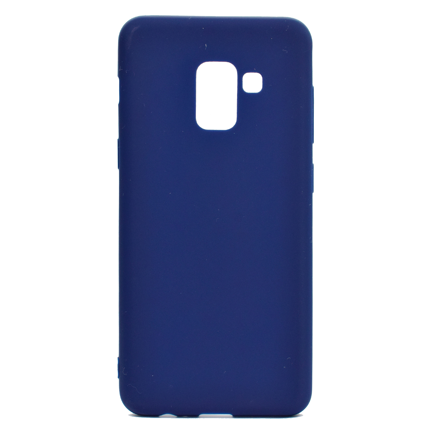 for Samsung A8 2018 Lovely Candy Color Matte TPU Anti-scratch Non-slip Protective Cover Back Case Navy