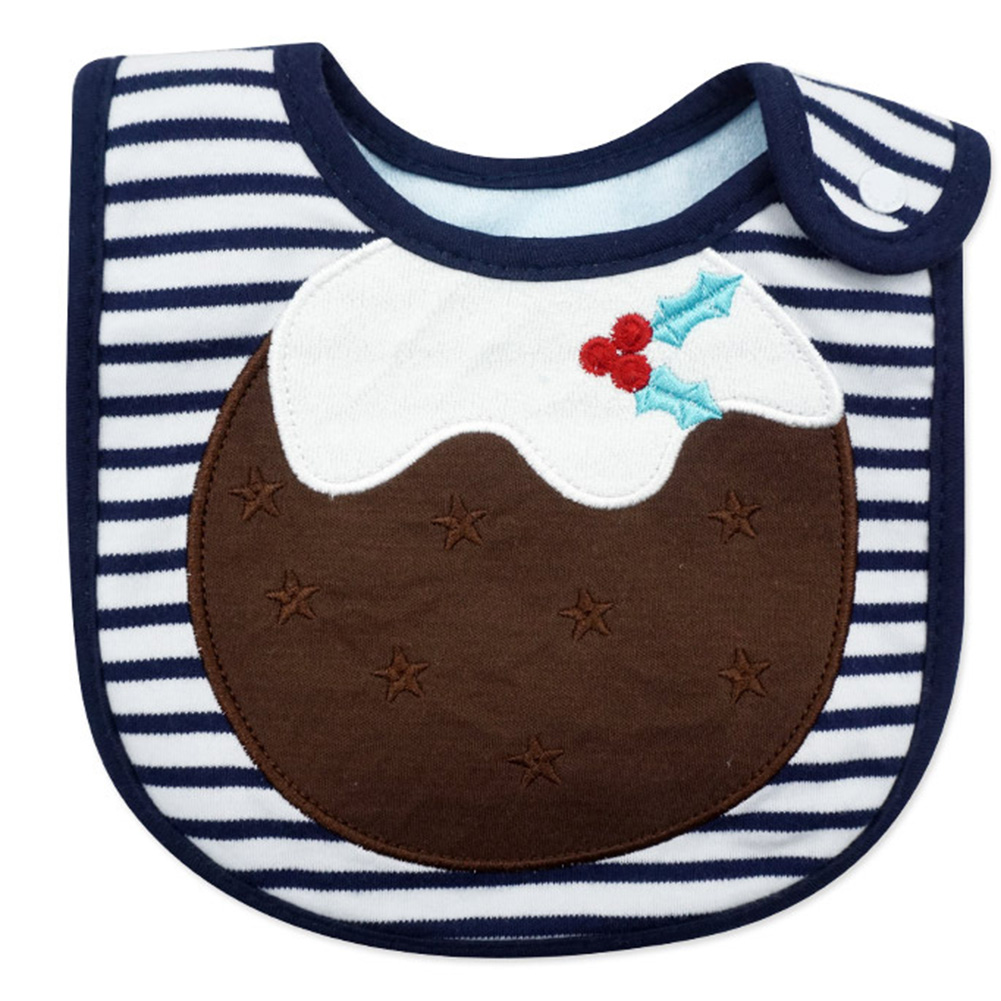 Baby Cute Waterproof Bibs Christmas Cartoon Dribble Tower with Snap Button