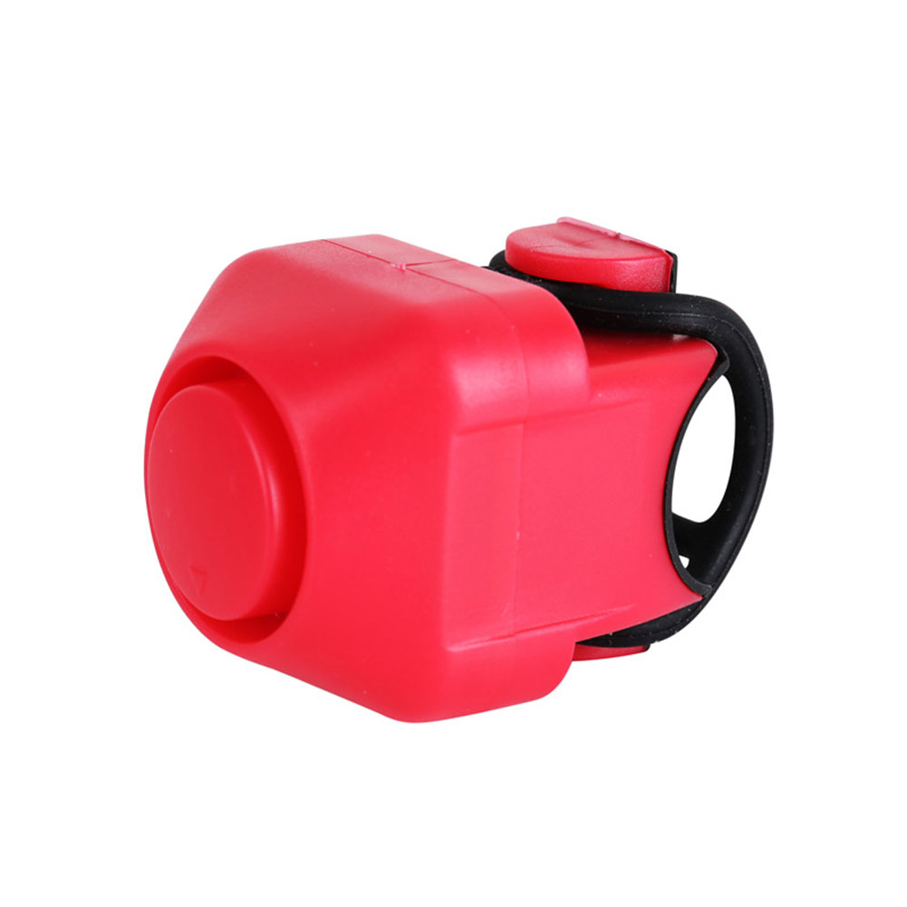 Mini Portable Electric Cycling Bells Horn Bicycle Handlebar Bell Outdoor Supplies red_One size