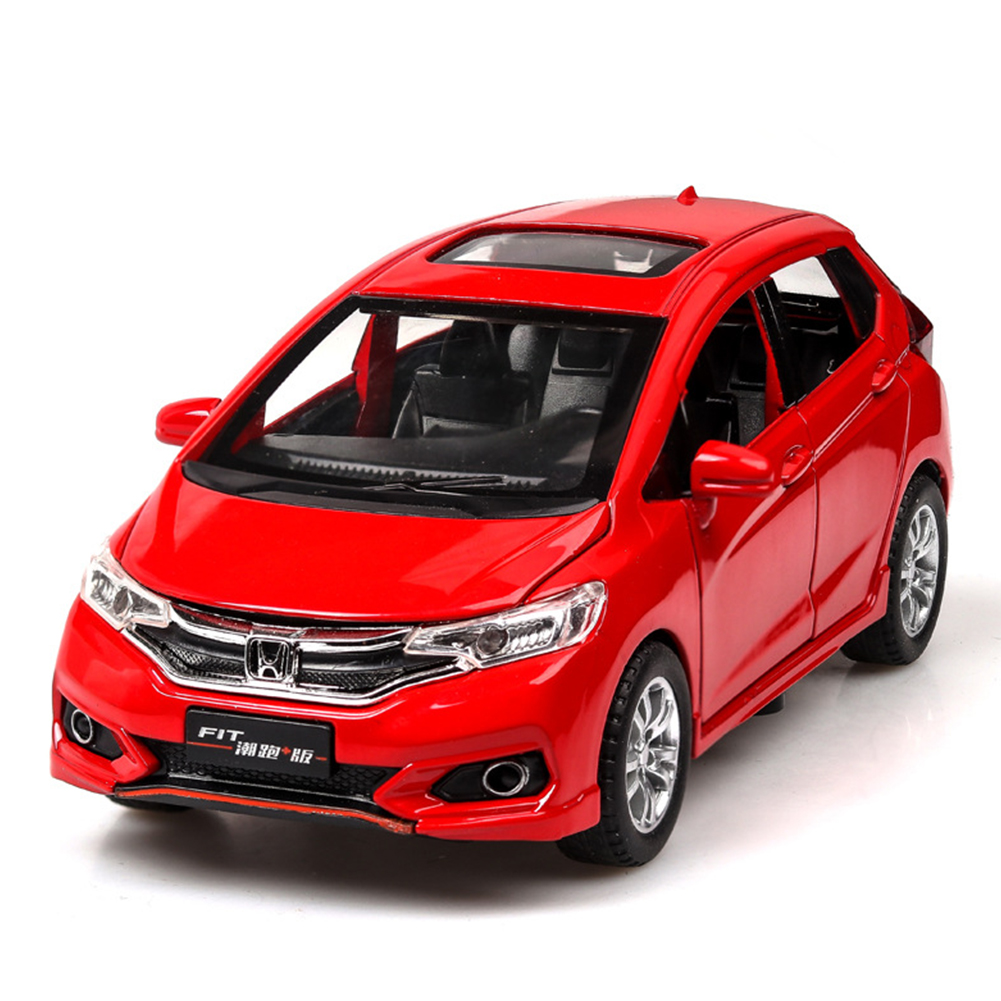 High Simitation 1:32 Alloy Metal Car Model Children Toys with Pull-back Function for Kids Birthday Gifts  red