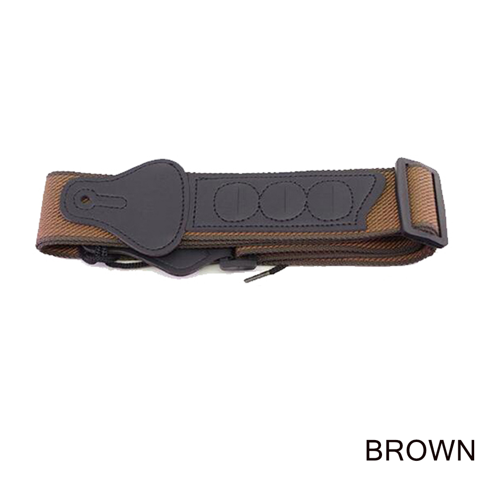 Guitar Strap/Shoulder Pad Protection Comfortable Padded for Guitar Accessories Guitar strap - brown