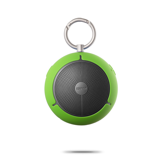 Original EDIFIER M100 Outdoor Mini Speaker Keychain Type Wireless Bluetooth Loudspeaker Portable Waterproof Music Player Support TF Memory Card green