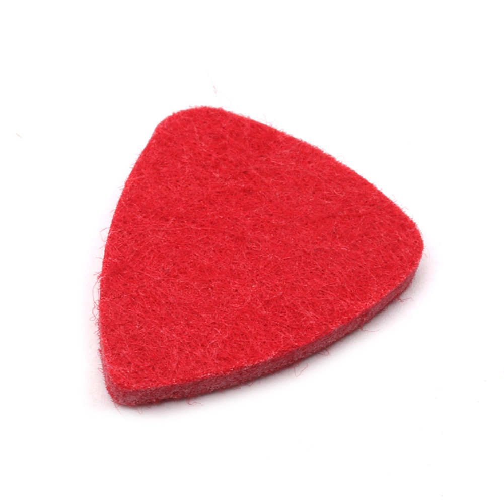 Colorful Ukulele Wool Picks Wool Felt Picks for Ukulele red