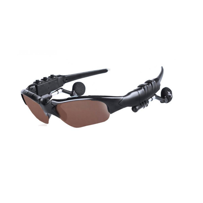 Bluetooth Glasses Sport Stereo Wireless Bluetooth 4.1 Headset Telephone Driving Sunglasses/mp3 Riding Eyes Glasses Brown