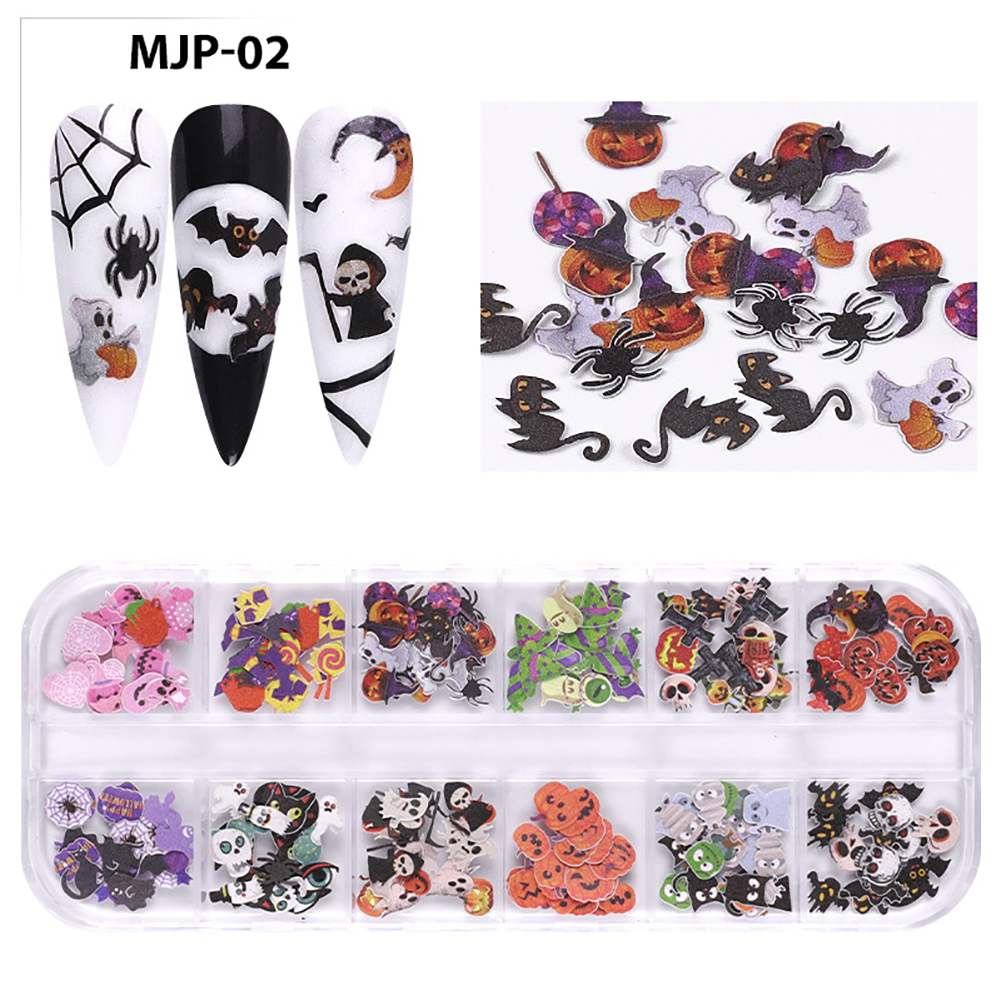 Nail Decorator Butterflies with little flowers for Christmas and Halloween nail art Nail jewelry set 02