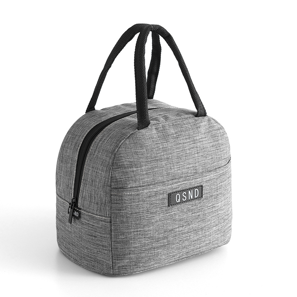Waterproof Oxford Cloth Aluminum Foil Insulated Tote Lunch Bag gray
