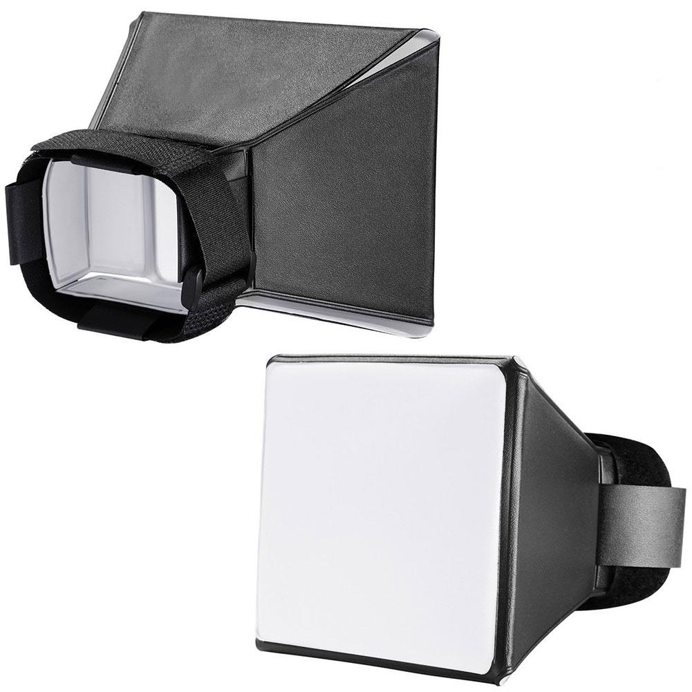 Camera Flash Cover Universal External Soft Cover Top Flash Portable Softbox Black