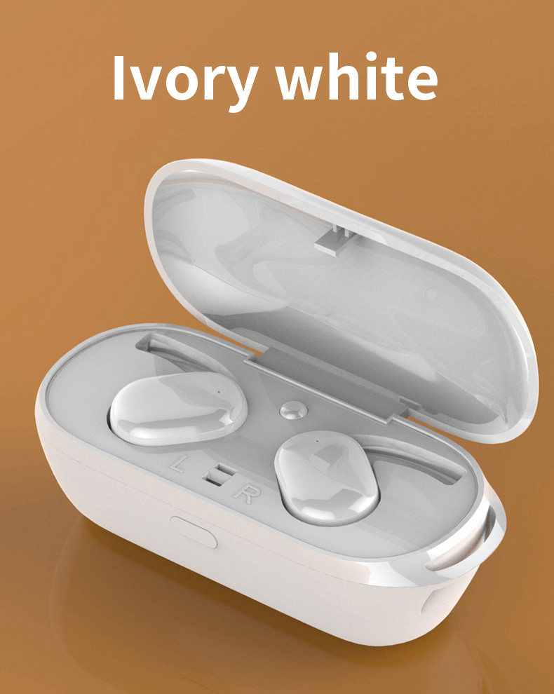 TWS Wireless Headphones 5.0 Bluetooth Earphones Headset  Cordless Headphone Mini Sports Earbuds Music Handsfree For Phones white