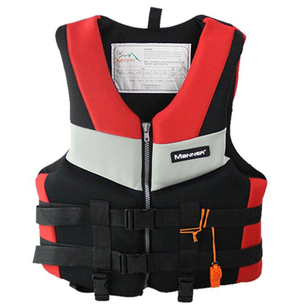 Adults Life Vest Swimming Boating Surfing Aid Floating Vest Life Jacket for Safety Adult red_XXL