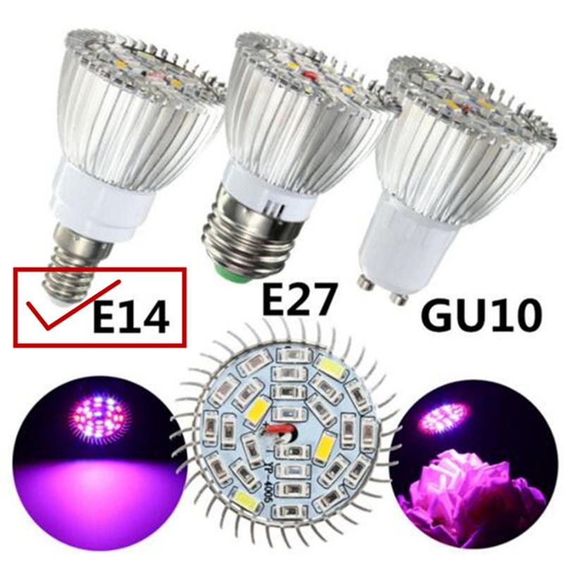 10W LED Full Spectrum Plant Grow Light Lamp for Indoor Garden Greenhouse Supplies E14