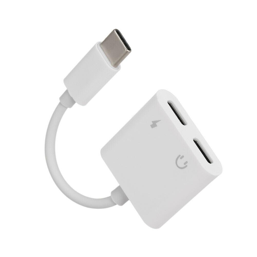 C to Dual C Digital Audio Headset Adapter for Google iPad Pro white