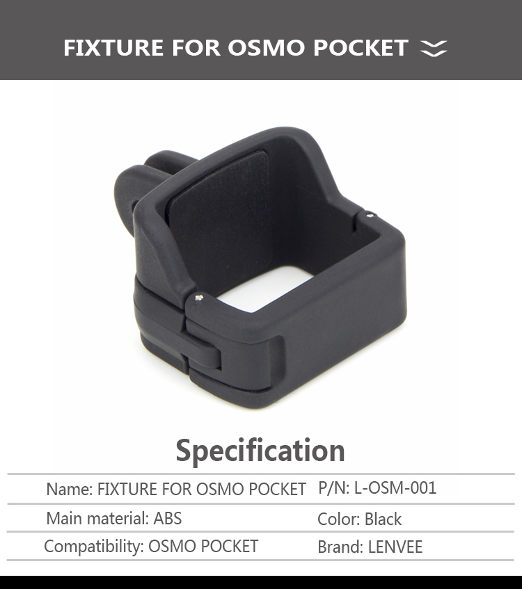 For Osmo Pocket Mount Tripod Backpack Clip for DJI OSMO Pocket Accessories  fixed clip