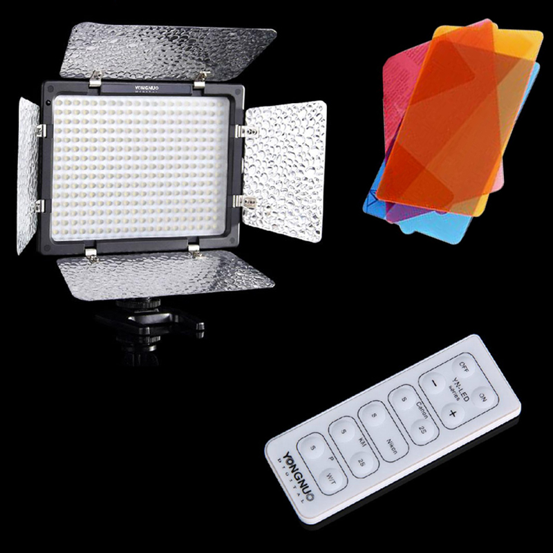 Original YONGNUO YN-300 LED Camera Video Light Lamp Illumination Dimming Photography Light for Canon Nikon Camera  EU plug