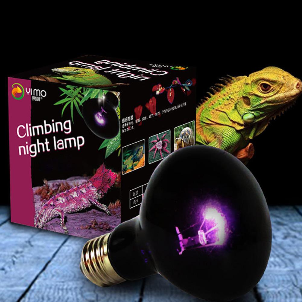 UVA Reptile Night Heating Lamp Bulb Imitation Moonlight Night Sleep Lighting Lamp for Lizard Snake Reptile Pets 220V E27 60W