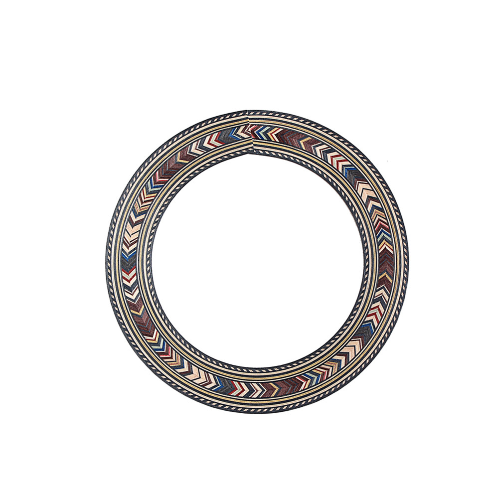 Wood Soundhole Rosette Inlay Guitar Sound Hole Decoration 94mm for Classic Guitar Acoustic Guitar Photo Color