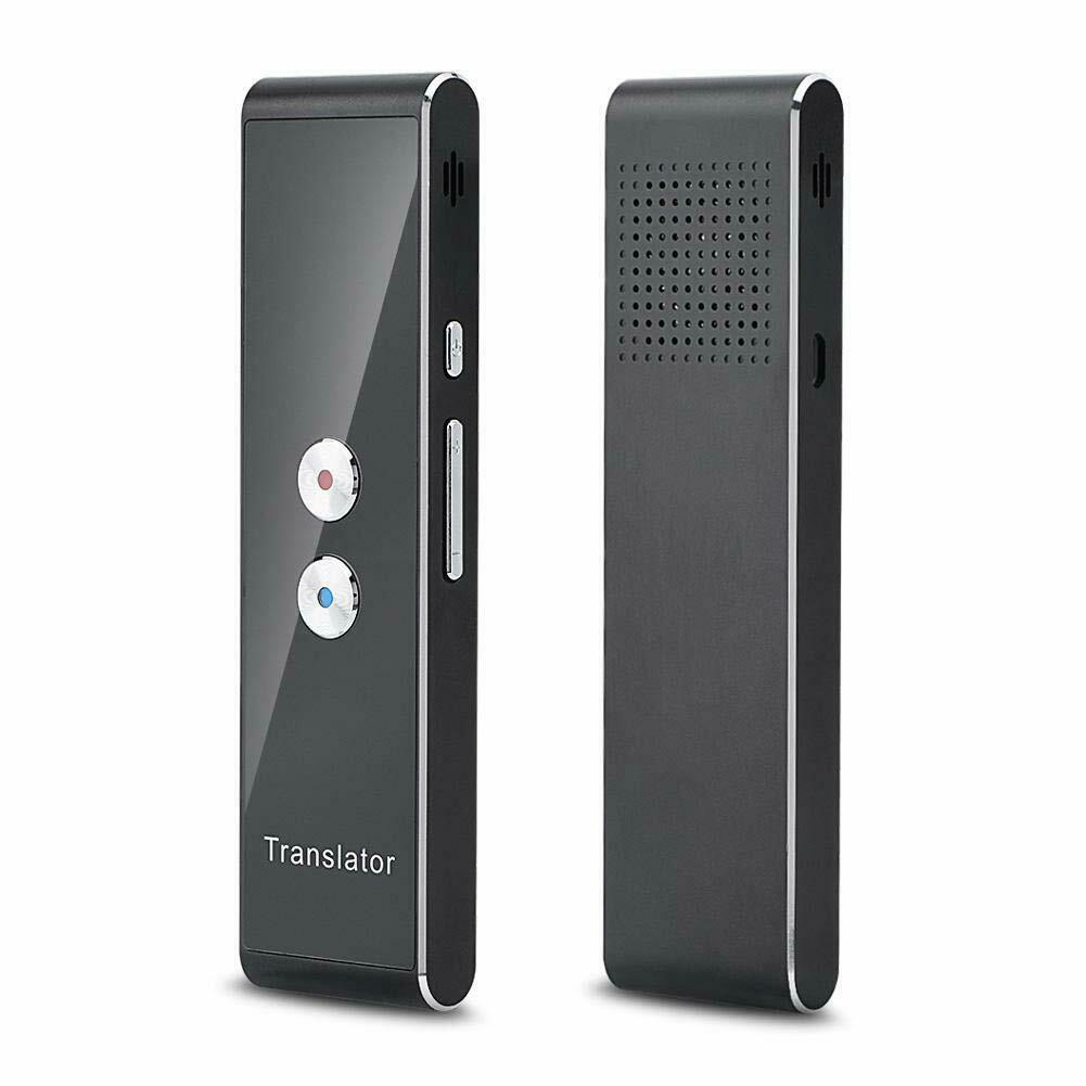 Smart Instant Real Time Voice 40 Languages Translator  black