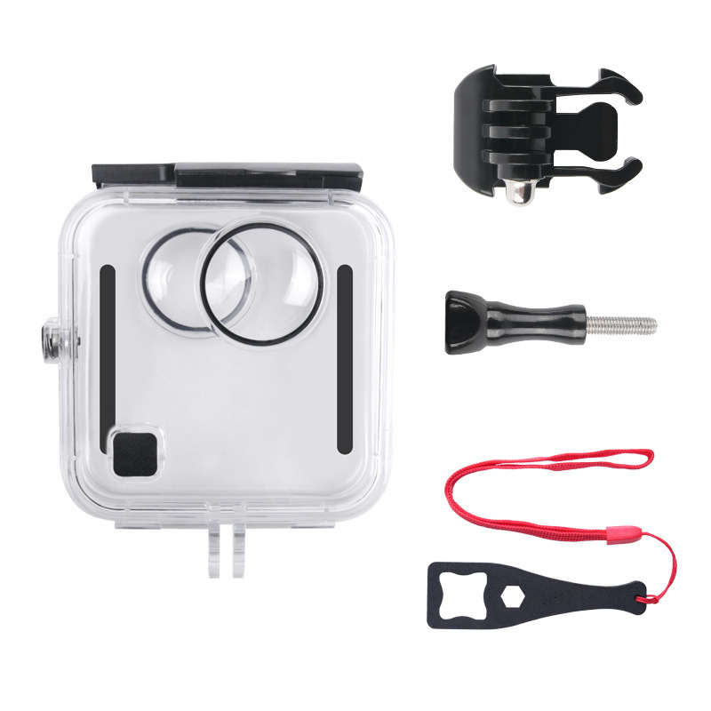 For GoPro Fusion 360-degree Camera Waterproof Housing Case 45M Underwater Diving Box Protective Case  Transparent