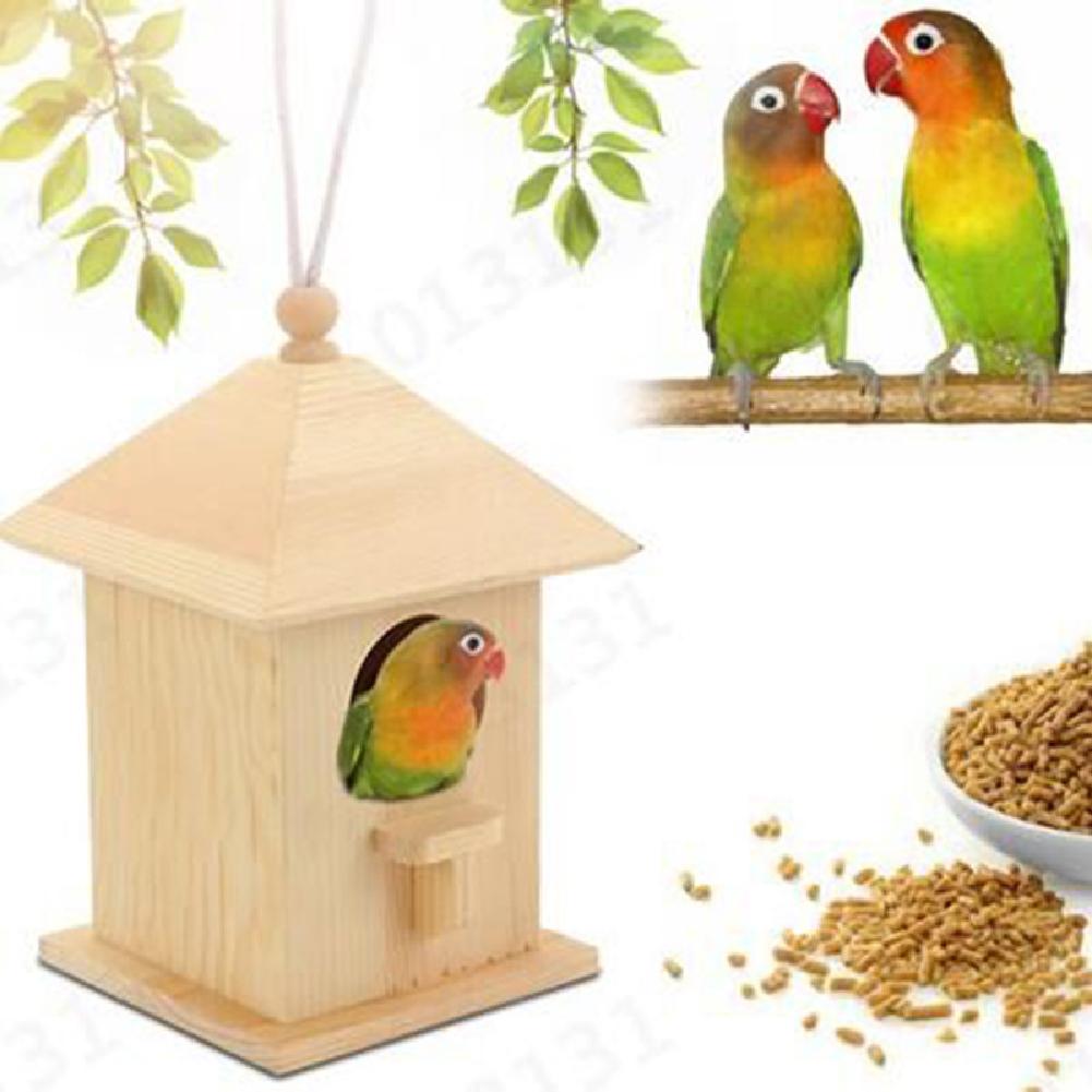 Outdoor Wooden Bird House Garden Bird Feeder for Outdoor Hanging wood_12.5*12.5*19.5