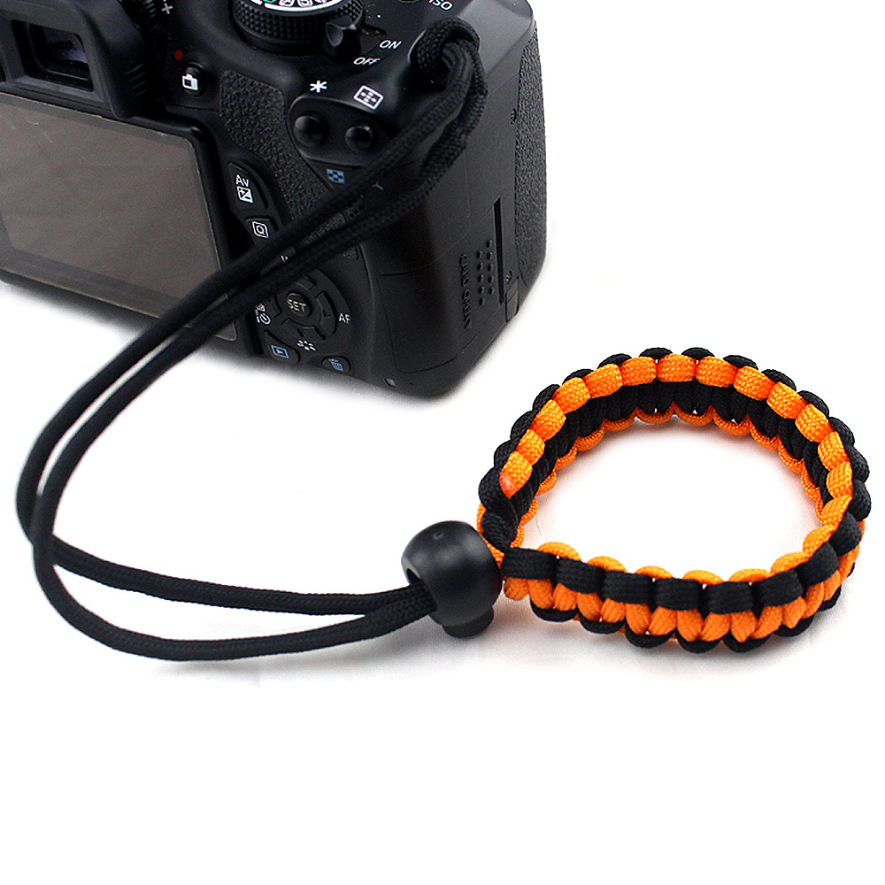 Fashion Braided Digital Camera Strap Camera Wrist Strap Hand Grip Wristband for Nikon Canon Sony Pentax Panasonic  orange black