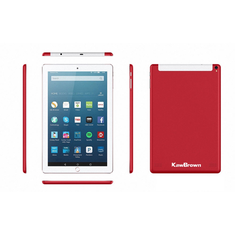 Kawbrown 10 Inch Tablet PC 1RAM 16GB Red