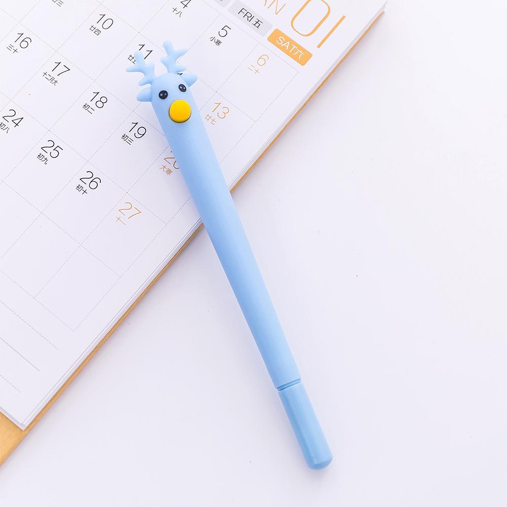 Cute Cartoon Deer Christmas Moose Gel Pen Black 0.5mm Gel Pen blue_0.5mm