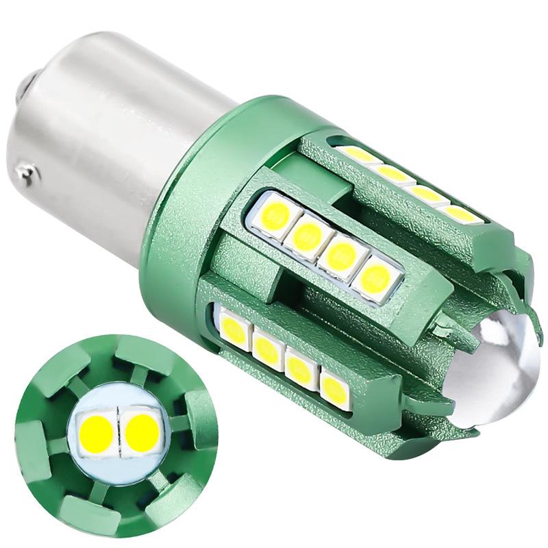 2pcs 3030 26smd CanBus 1156 led Bulbs For Turn Signal Light White light