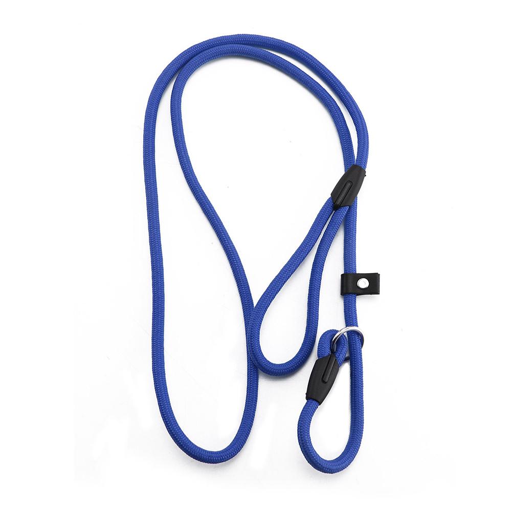 Nylon Dog Leash Dog Traction Belt Pet Harness Straps Pet Supplies blue_0.6*130CM