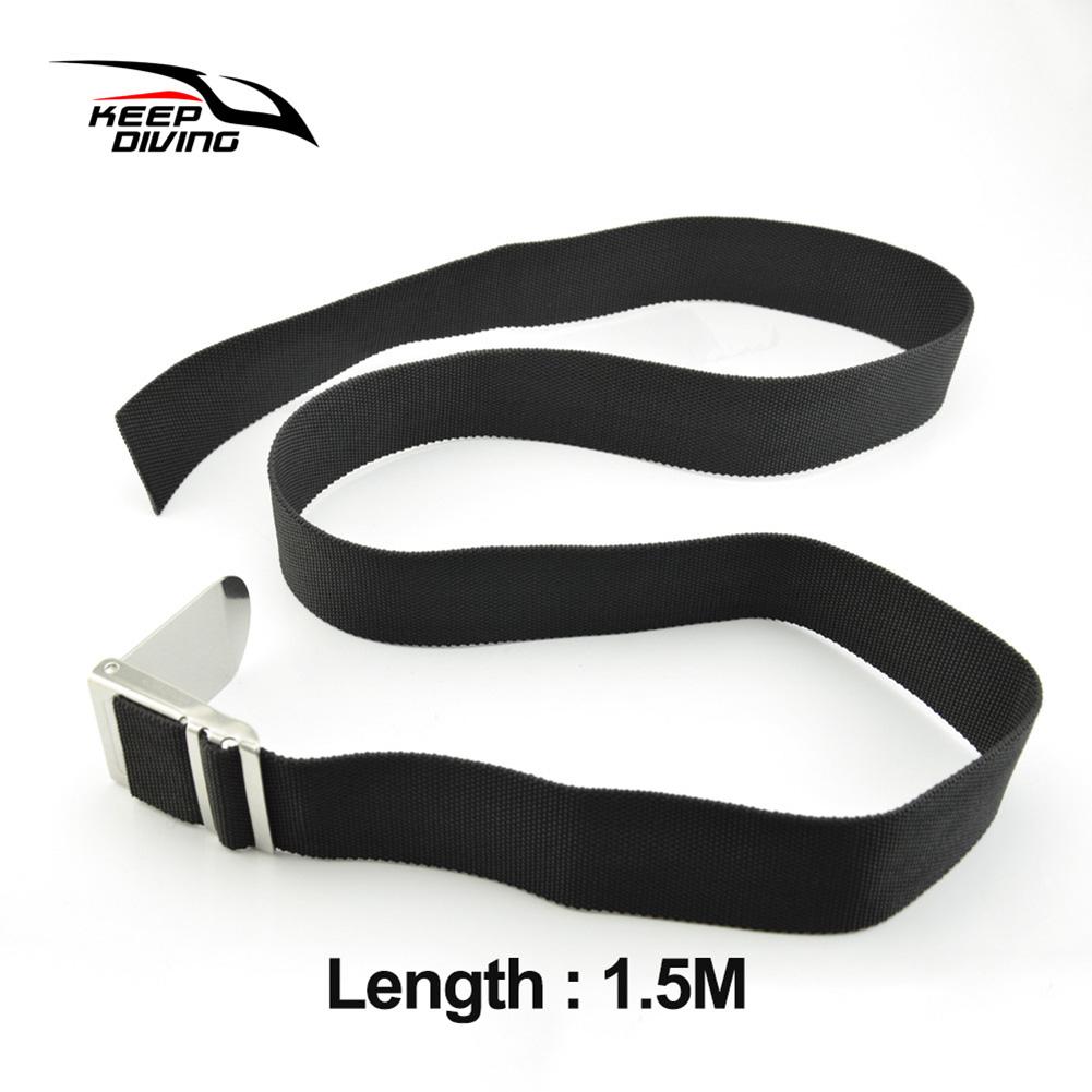 Diving Belt Diving Heavy Belt Lead Block Weight Belt Swimming Diving Accessories  Black 1.5M