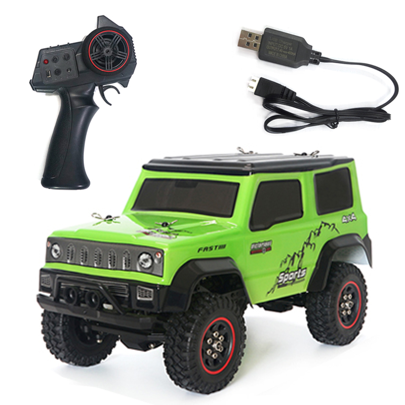 SG-1801 1:18 2.4G Climbing Car Low Voltage Protection Remote Control Model Car Toy 20KM/H green