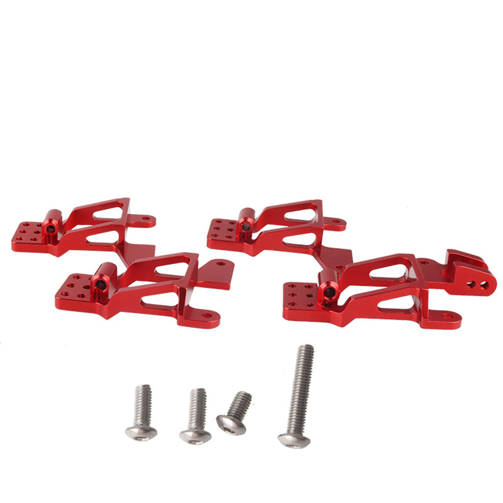 4pcs Front Rear Metal Shock Absorbers Bracket for 1/10 Land Rover Defender RC Crawler Car Traxxas TRX4 D90 D110 RC4WD red