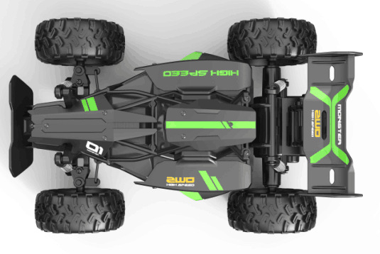 3063R 1:18 Two-wheel Drive 2.4g High-speed Off-road Remote Control Car Model Toys green