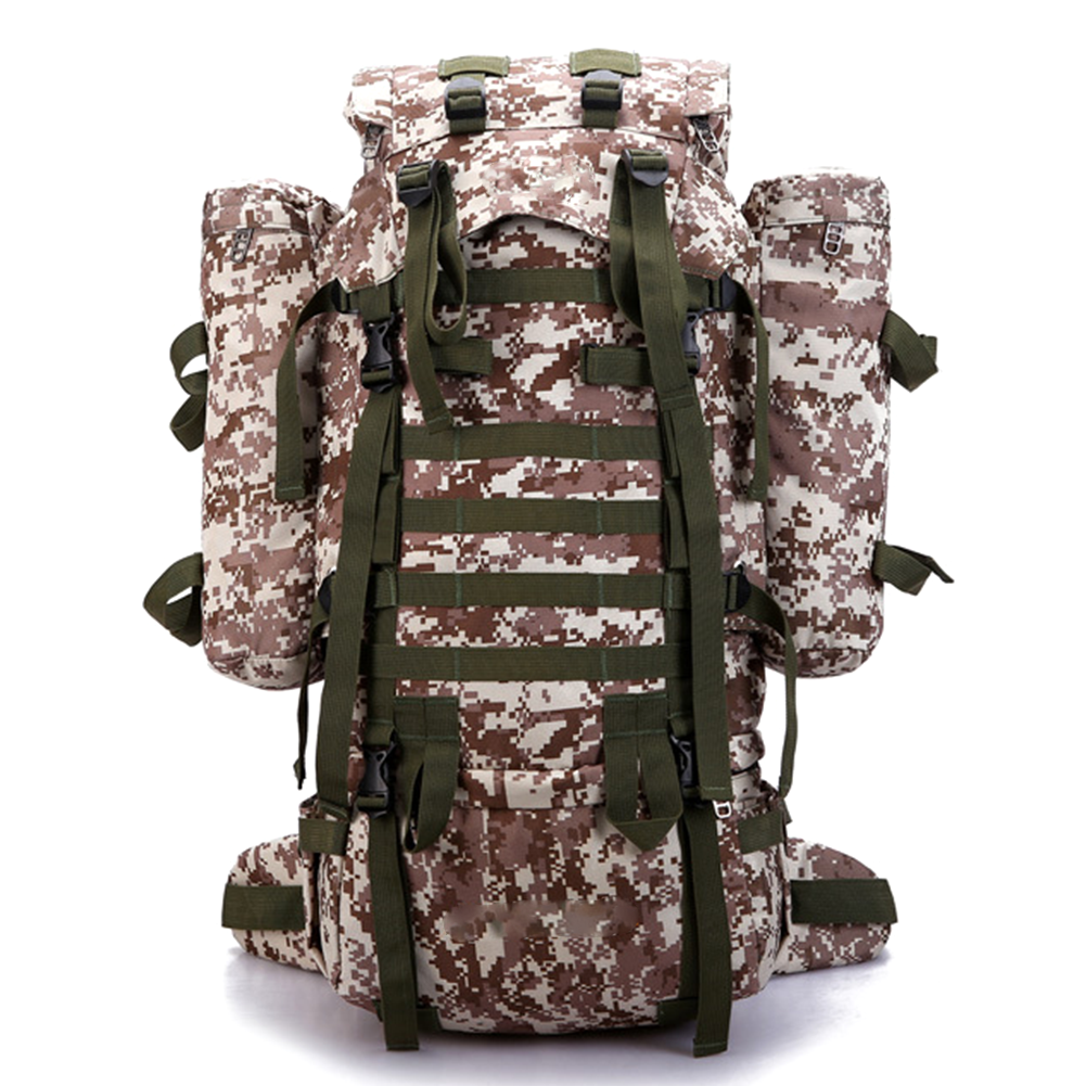 80L Large Capacity Camouflage Hiking Backpack Waterproof Outdoor Rucksacks for Camping Trekking Travelling Climbing Bag