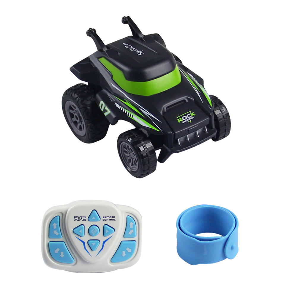 F121 RC Mini Stunt Car 2.4G Electronic Toys 360 Rotation RC Off-road Racing Car Watch Control RC Toy for Kids green