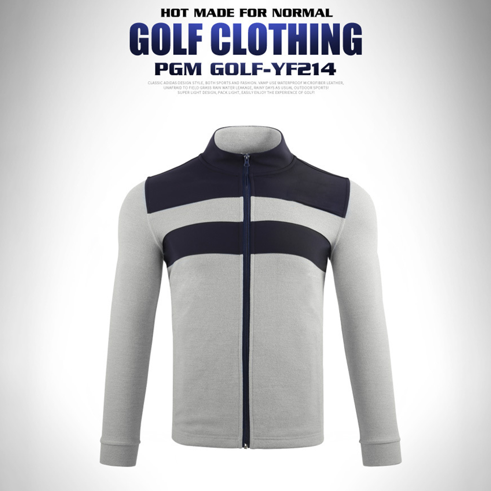 Golf Clothes Autumn Winter Long Sleeve Jacket Warm Knitted Clothes Yf214 gray_M