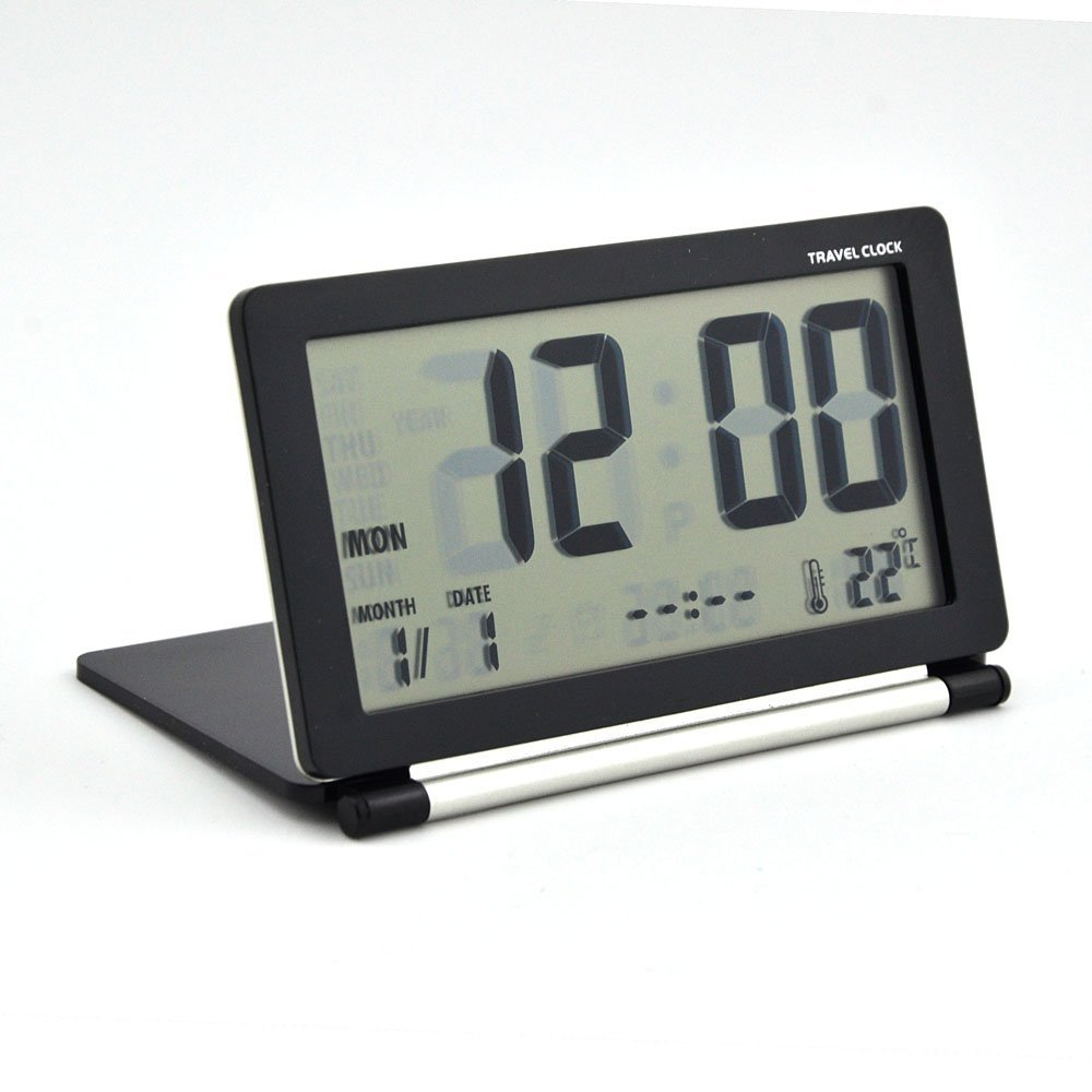 Electronic Alarm Clock Multifunction Silent LCD Digital Large Screen Travel Desk Alarm Clock