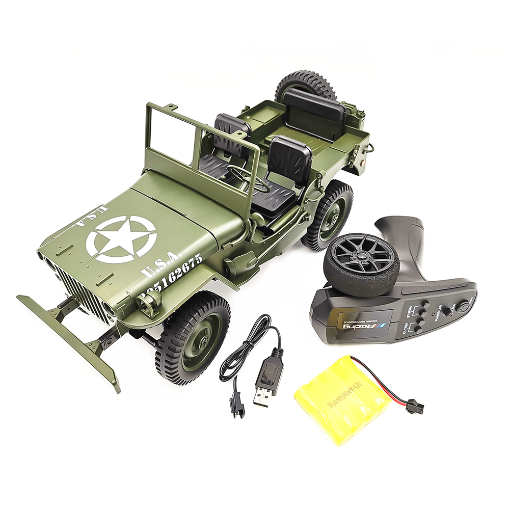 1:10 Remote Control Car C606 Four-wheel Drive Climbing Jeep RC CAR Convertible Toy Car Army green vehicle_1:10