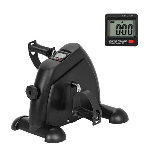Mini  Fitness  Device Home Exercise Bike Portable Durable Hand And Foot Trainer black_07836638