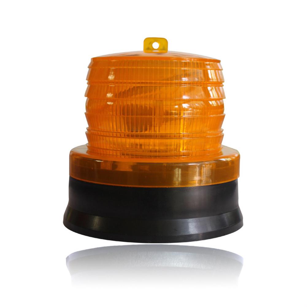 LED Solar Warning Lamp Flash Indicator Light for Traffic Road Safety  yellow