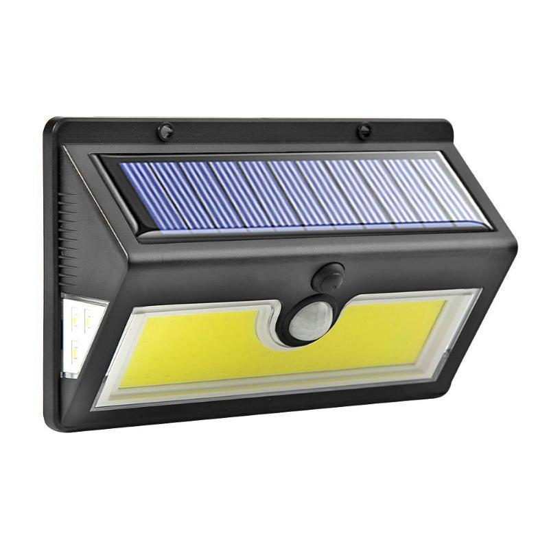 44LEDs 64COB Solar Light Motion Sensor 3 Sided Light Garden Outdoor Yard Security Wall Lamp for Outdoor 64COB (three-function removable battery)