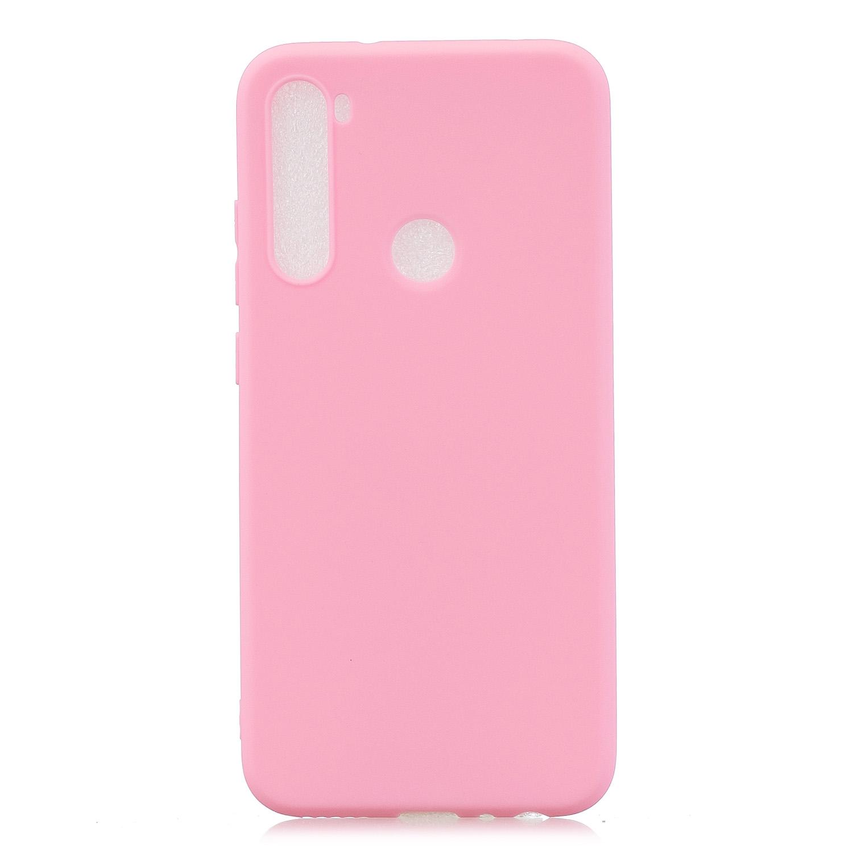 For Samsung A01/ A11/A21/A41/A51/A71/A81/A91 Mobile Phone Case Lovely Candy Color Matte TPU Anti-scratch Non-slip Protective Cover Back Case 5 dark pink
