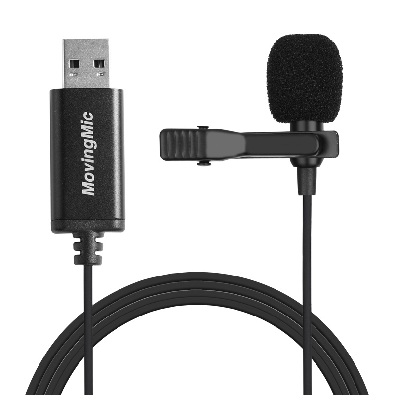 Mini Microphone for PC Computer USB Straight Plug with 1.5m Cable Portable Clip-on Omni-Directional Stereo Mic  black