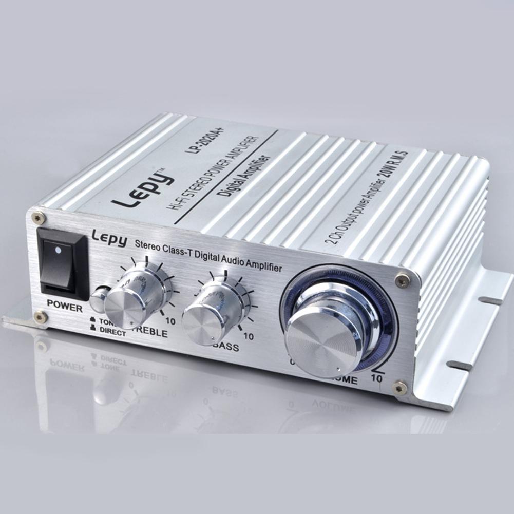 Mini Power Amplifier LP 2020A Digital Amplifier Class D High Quality Amplifier Silver + British standard 3A power supply