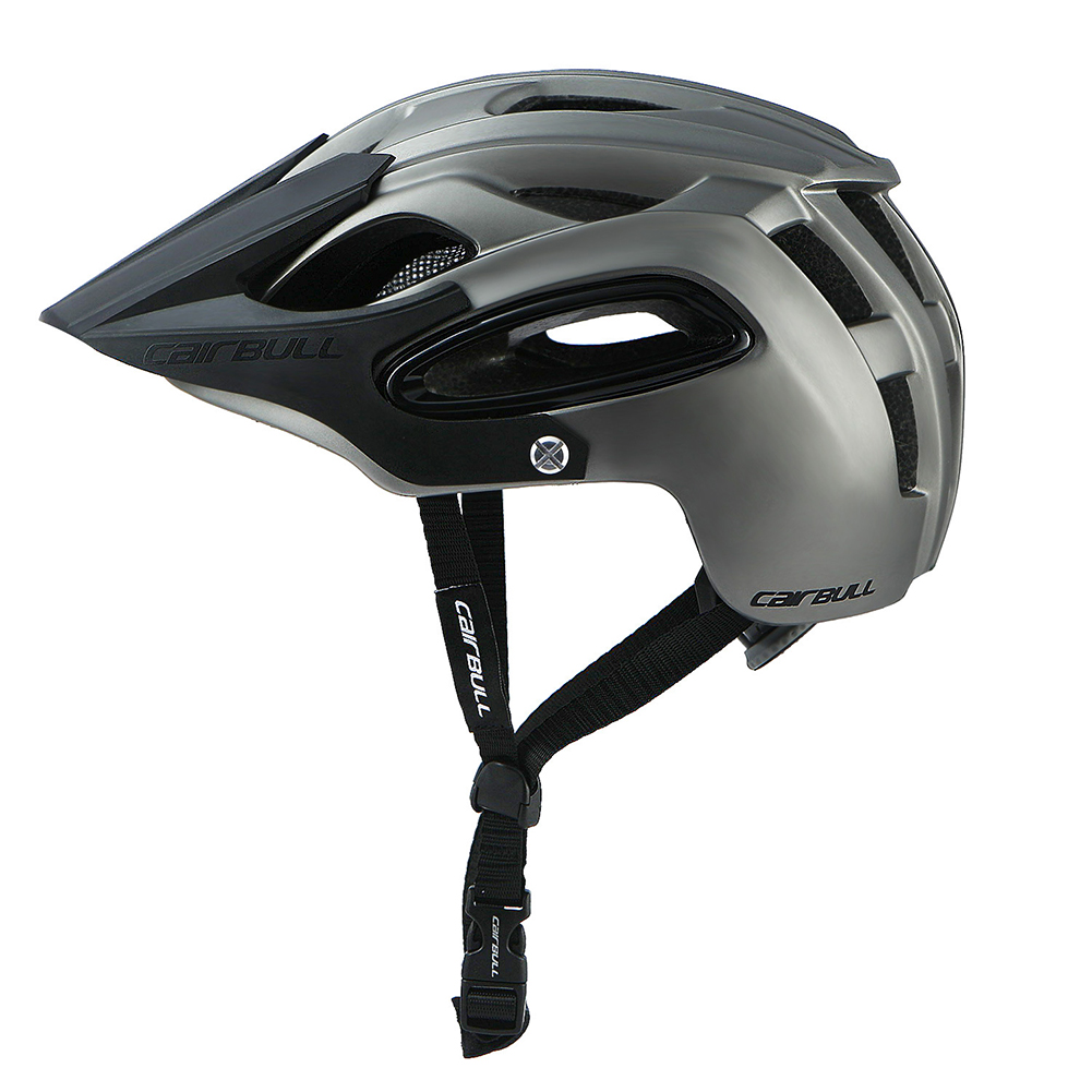 Shock-proof Bicycle Helmet Integrated Molding Breathable Cycling Helmet for Man Woman Titanium gray_M (54-58CM)